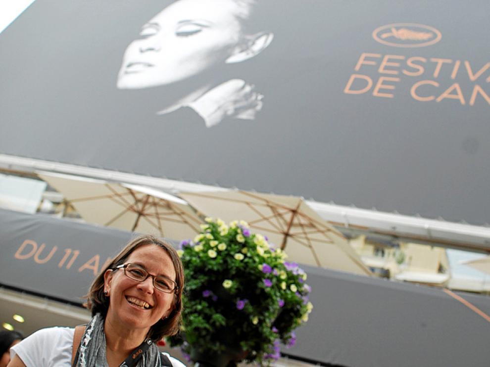 Marisa Samitier, en Cannes, donde presentó el corto 'Amores ciegos'