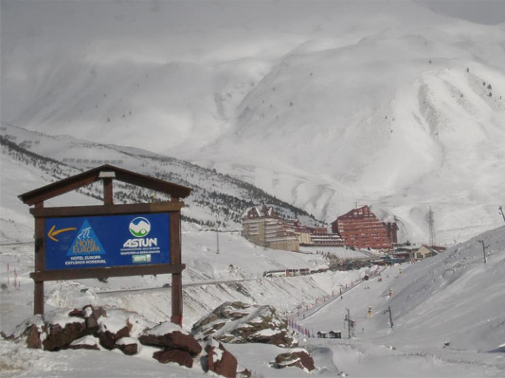 Imagen de archivo de la estación de esquí de Astún