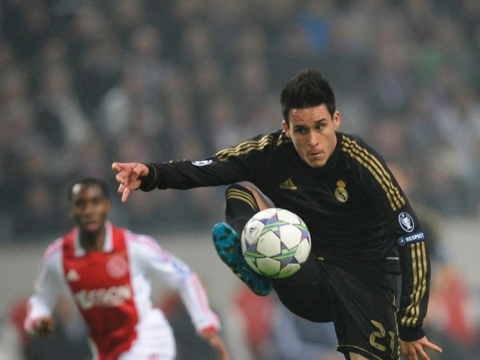 Jose Callejón, durante el encuentro ante el Ajax