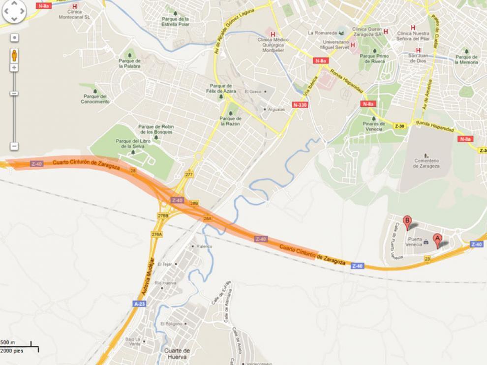El tramo comprende unos 6 kilómetros en las inmediaciones de los accesos a la A-23