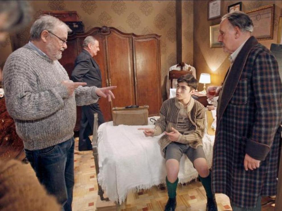 Imagen del rodaje de 'Los muertos no se tocan, nene'
