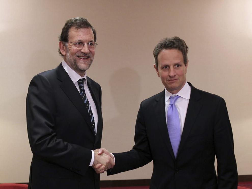 Encuentro entre Mariano Rajoy y Timothy Geithner