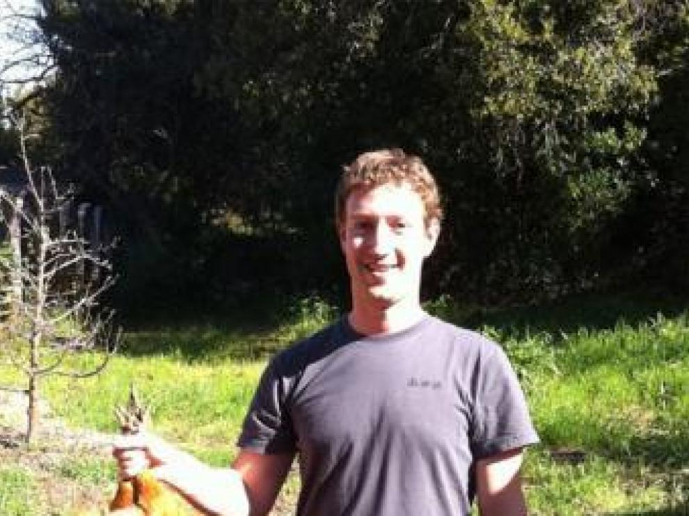 Zuckerberg, en una de las fotos filtradas en la red social