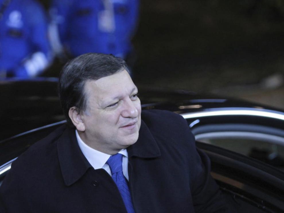 Durao Barroso, a su llegada a la cena con los líderes de la UE