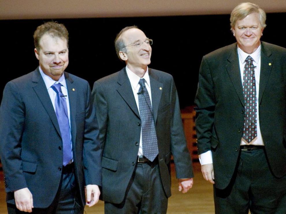 Ganadores del premio Nobel de Física, antes del concierto