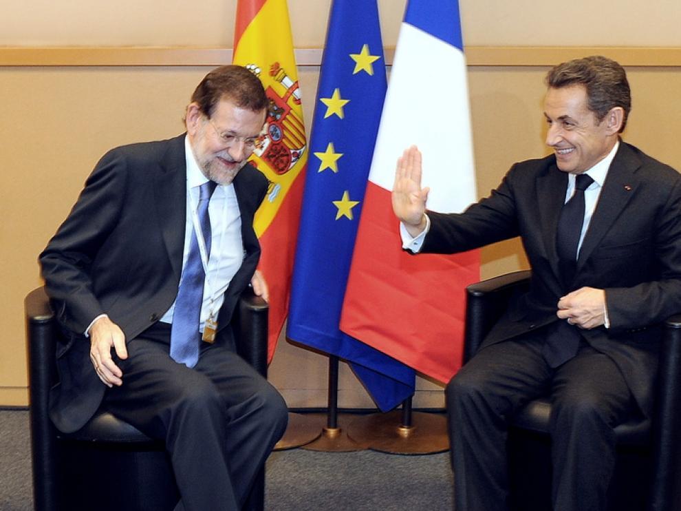 Rajoy se reunió con Sarkozy en Marsella