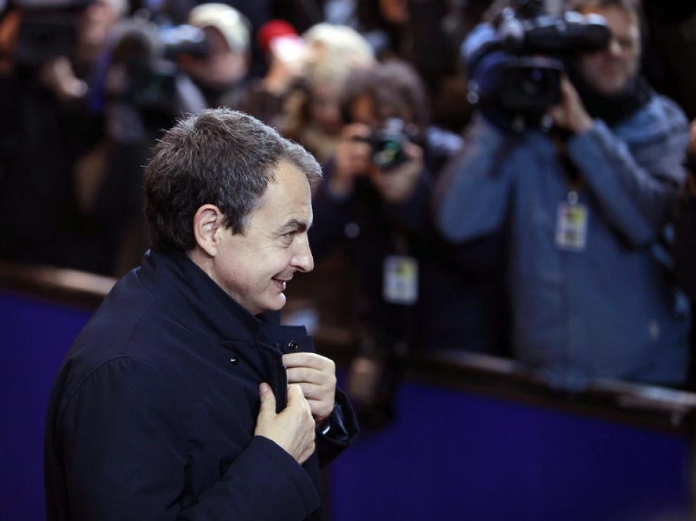 Zapatero, a su llegada a la Cumbre