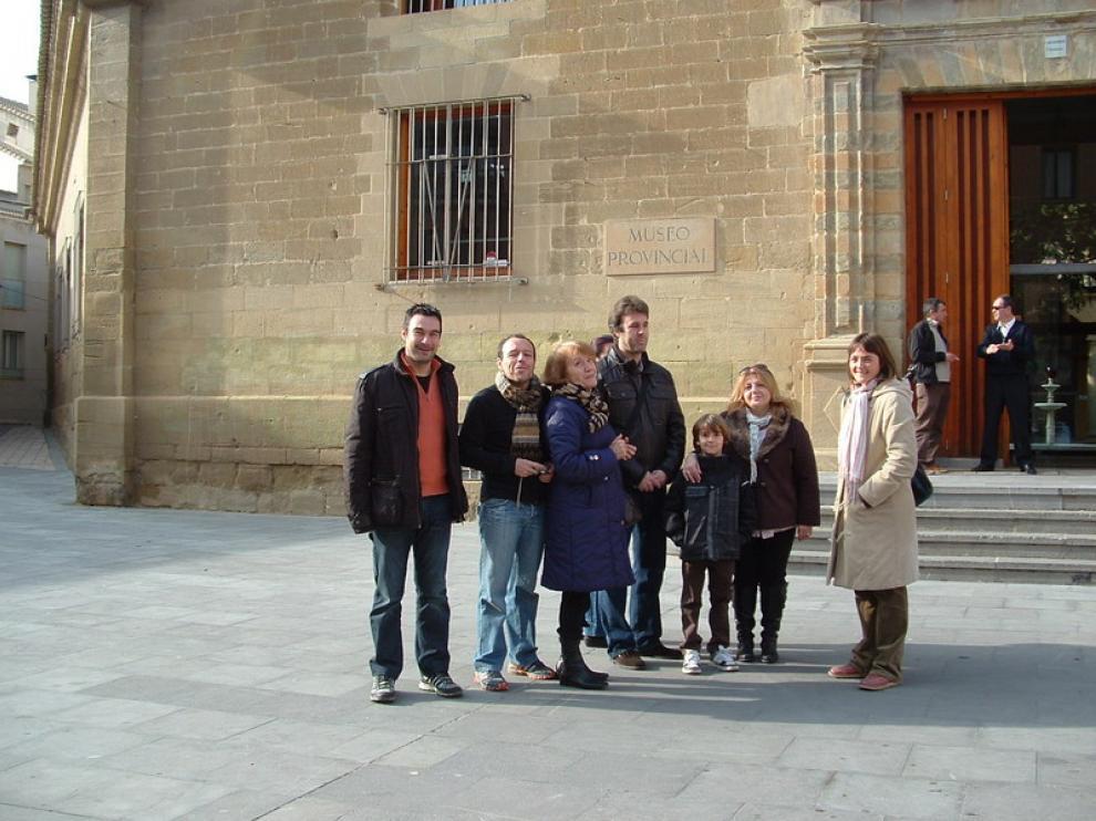 Turistas en una visita guiada