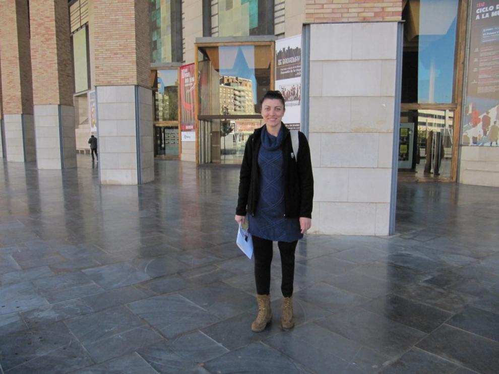 Nuria Rivas, presidenta de la Asociación de Amputados de Aragón