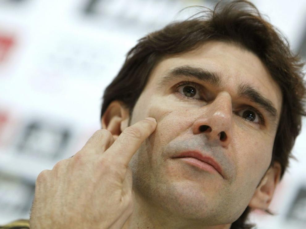 Aitor Karanka, en la rueda de prensa