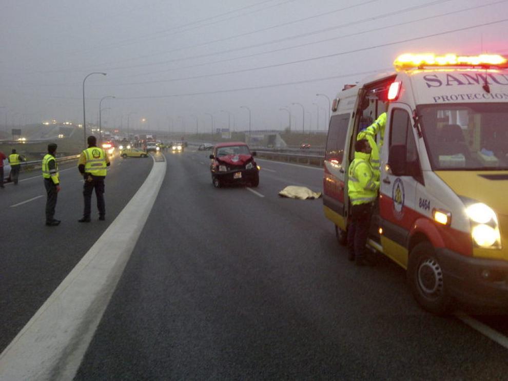 Accidente en la M-40 de Madrid