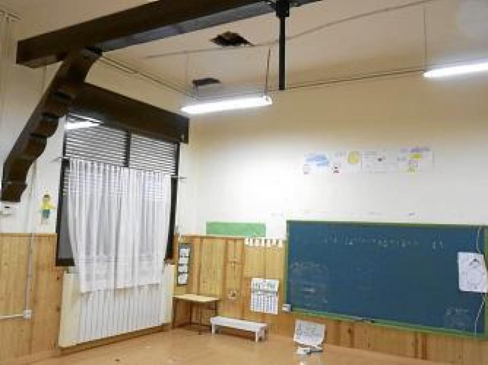 El aula de Infantil (en la foto) se desalojó a principios de curso.