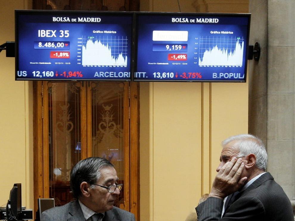 La Bolsa de Madrid, a media sesión del lunes
