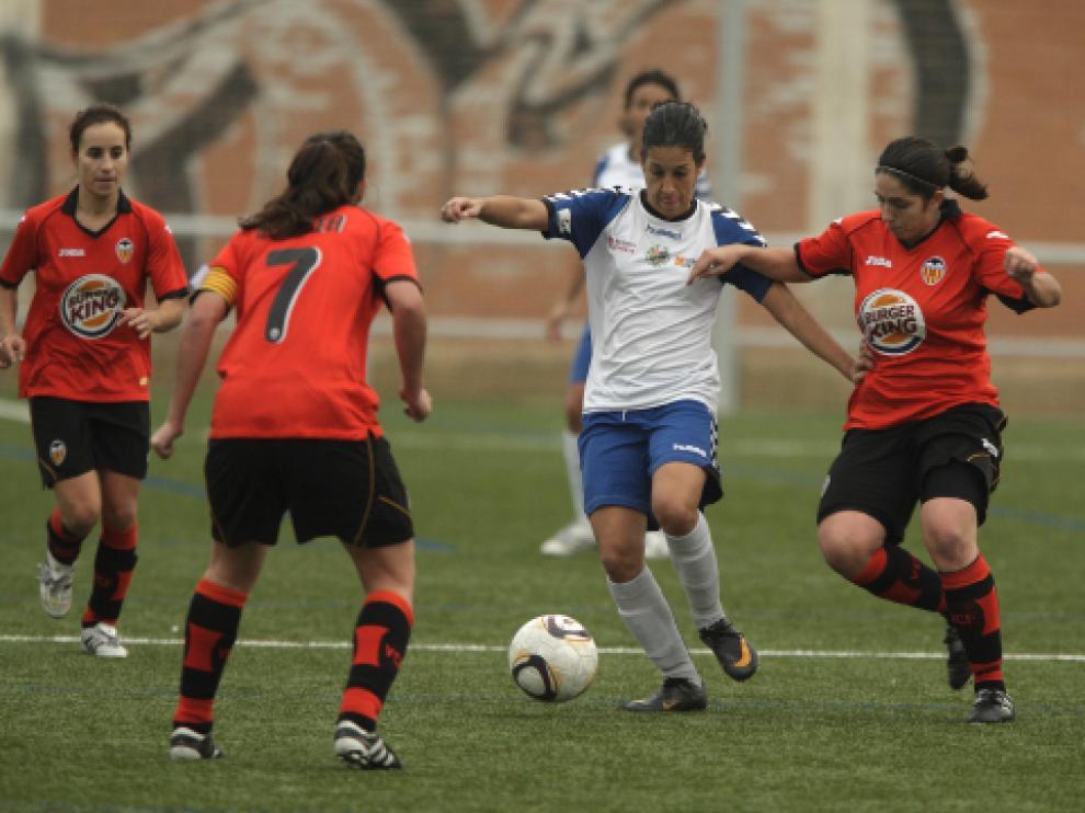 Imagen del partido de este domingo del encuentro Prainsa-Valencia