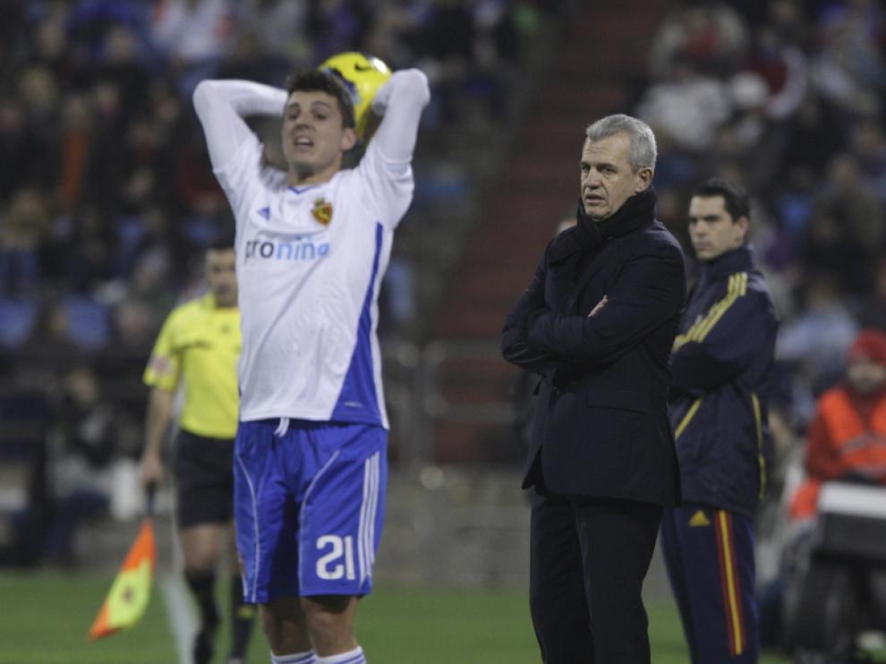 Imagen de uno de los últimos partidos del Zaragoza
