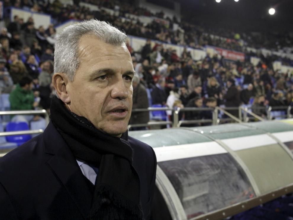 Javier Aguirre, durante el partido frente al Mallorca