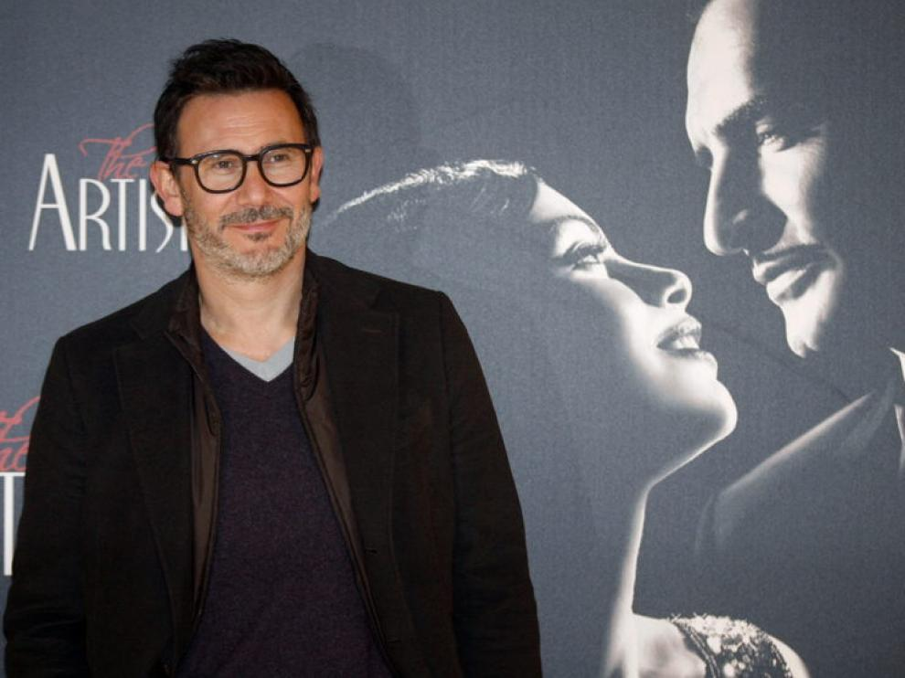 El director de 'The Artist', Michel Hazanavizius, durante el esperado estreno en España