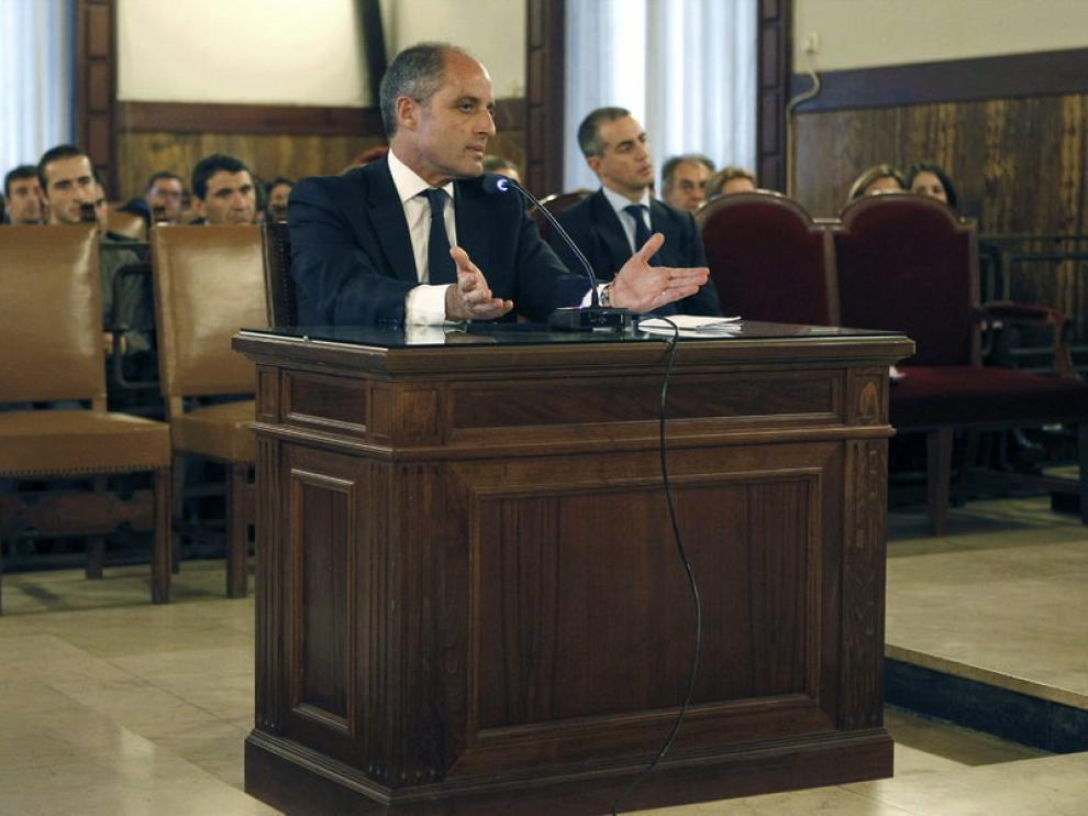 Francisco Camps en el juicio