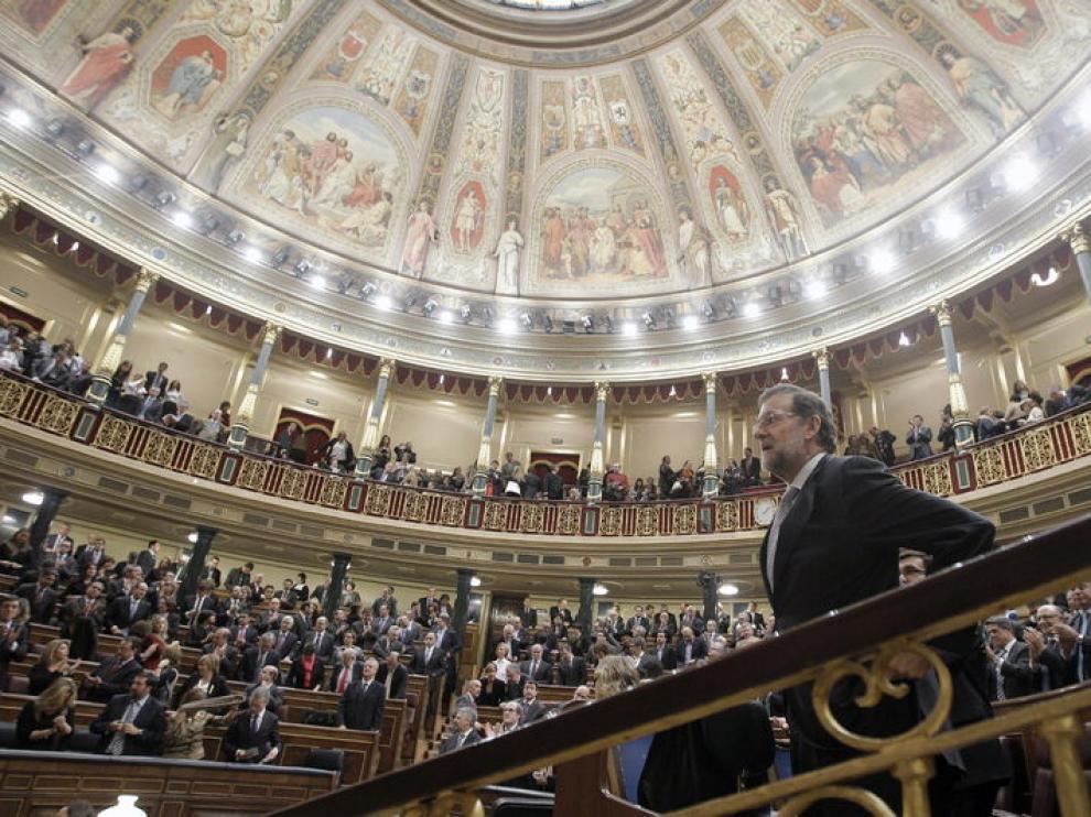 Mariano Rajoy, durante la sesión constitutiva de las Cortes