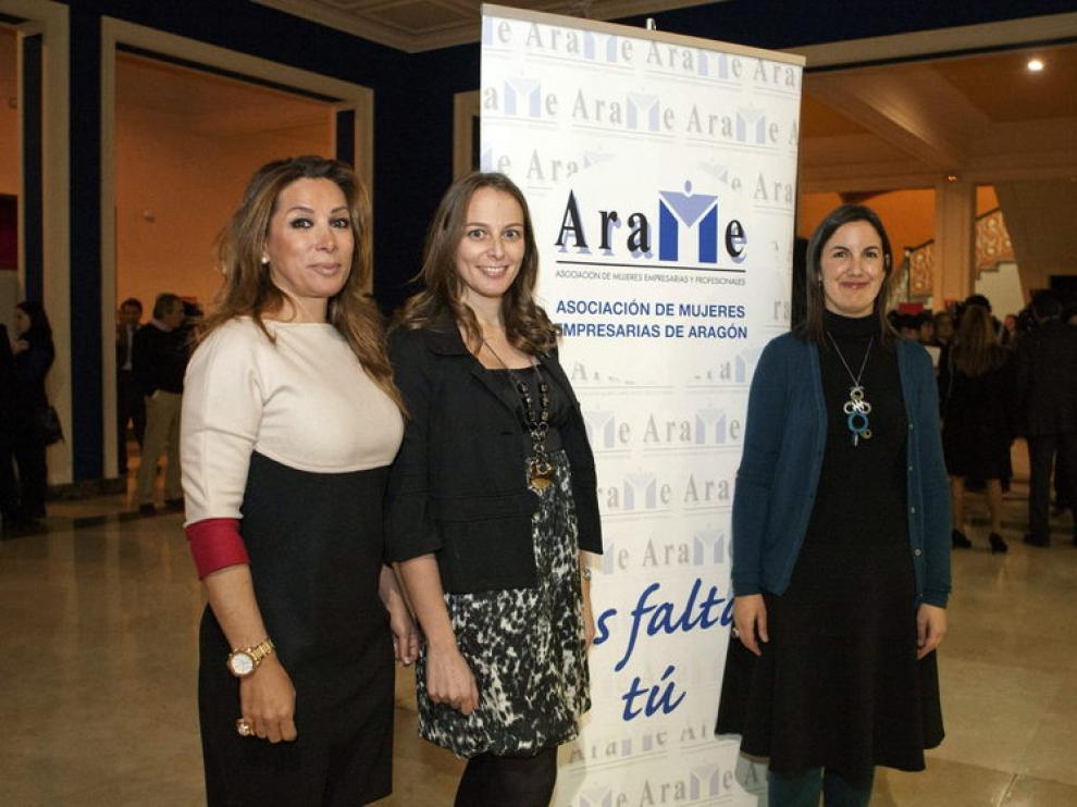 De izquierda a derecha, Teresa Rodrigo, María López y Ruth Lázaro