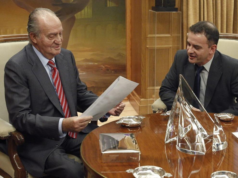 Reunión del Rey con el representante de ERC