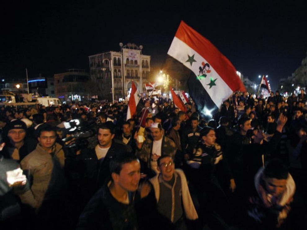 Manifestación a favor del régimen del pasado día 10