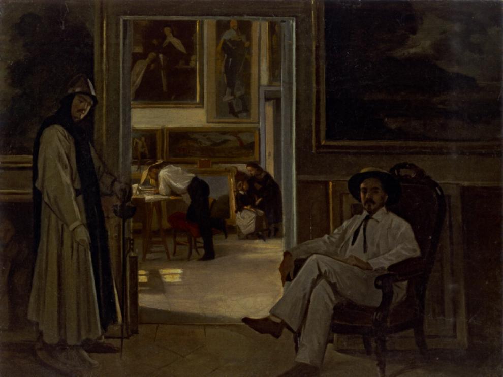 'Estudio de un pintor'. Raimundo de Madrazo. Óleo sobre lienzo