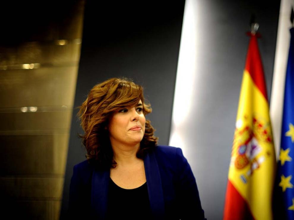 Soraya Saénz de Santamaría, en una imagen de archivo