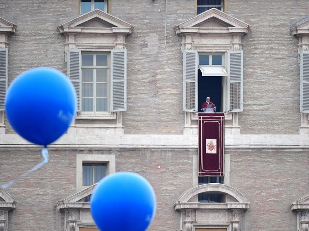 Benedicto XVI, esta mañana, en el Palacio Apostólico Vaticano