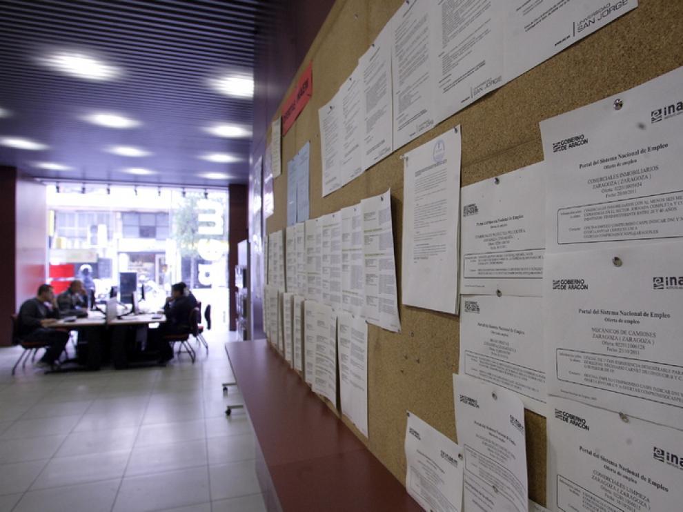 Imagen de una oficina del INAEM en Zaragoza