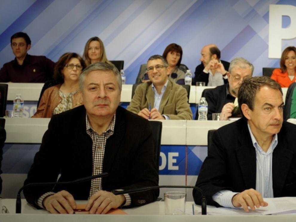 Blanco, Zapatero y Chaves, en el Comité Federal del PSOE