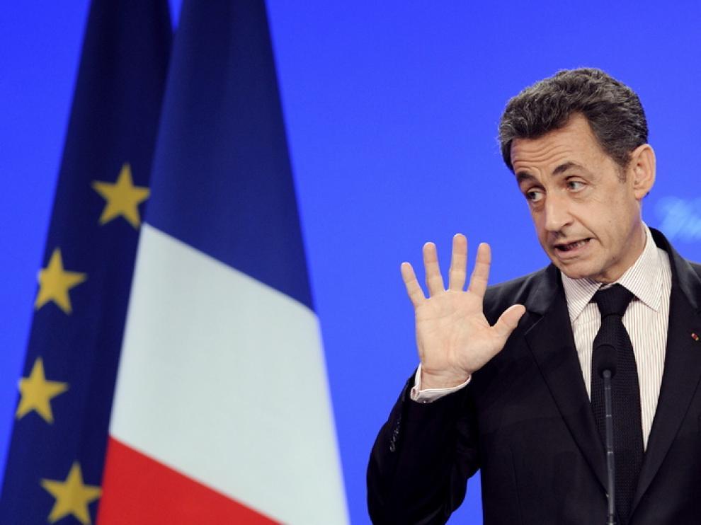 Nicolas Sarkozy en una imagen de este martes