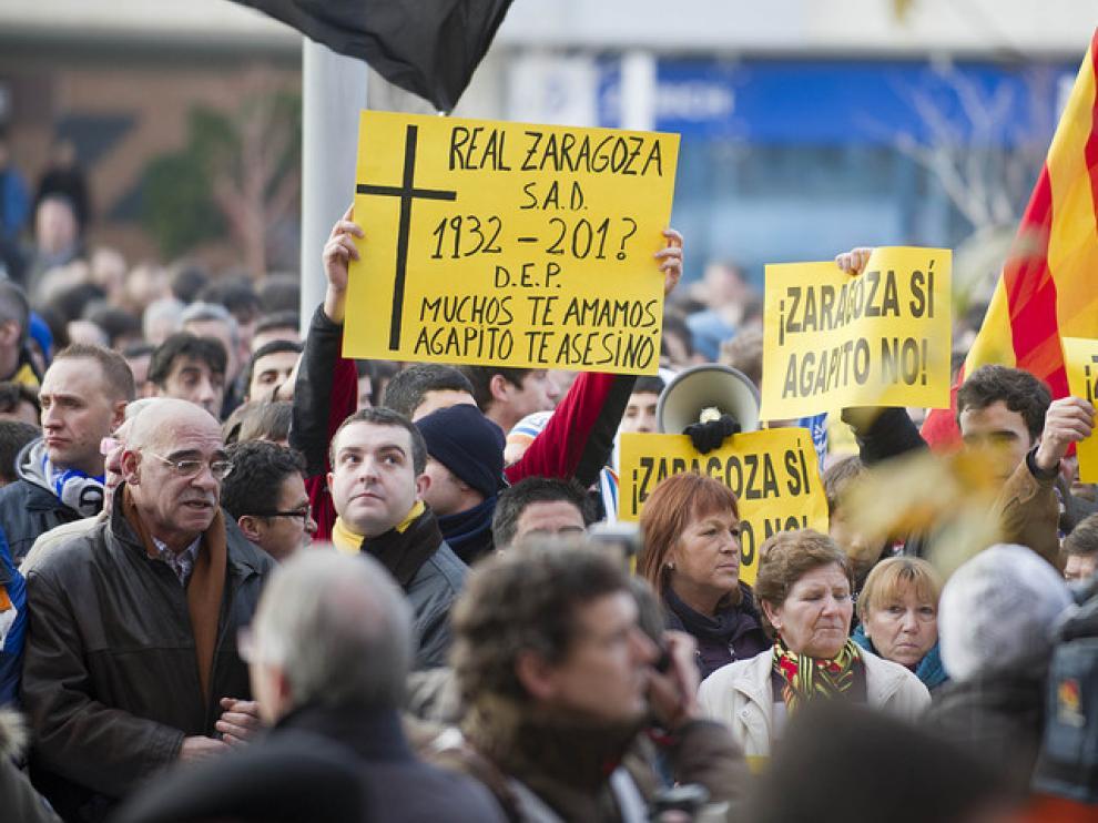 Manifestación contra Agapito