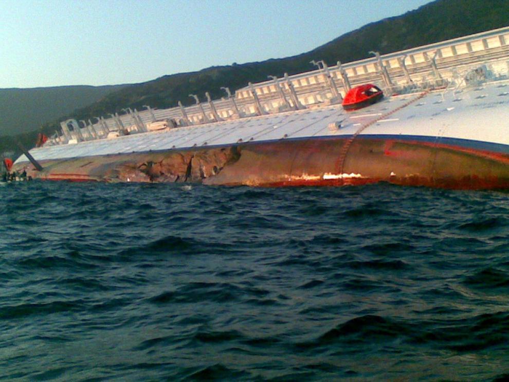 Naufragio de un crucero en Italia