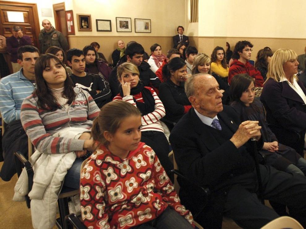 Manuel Fraga en el colegio San Viator