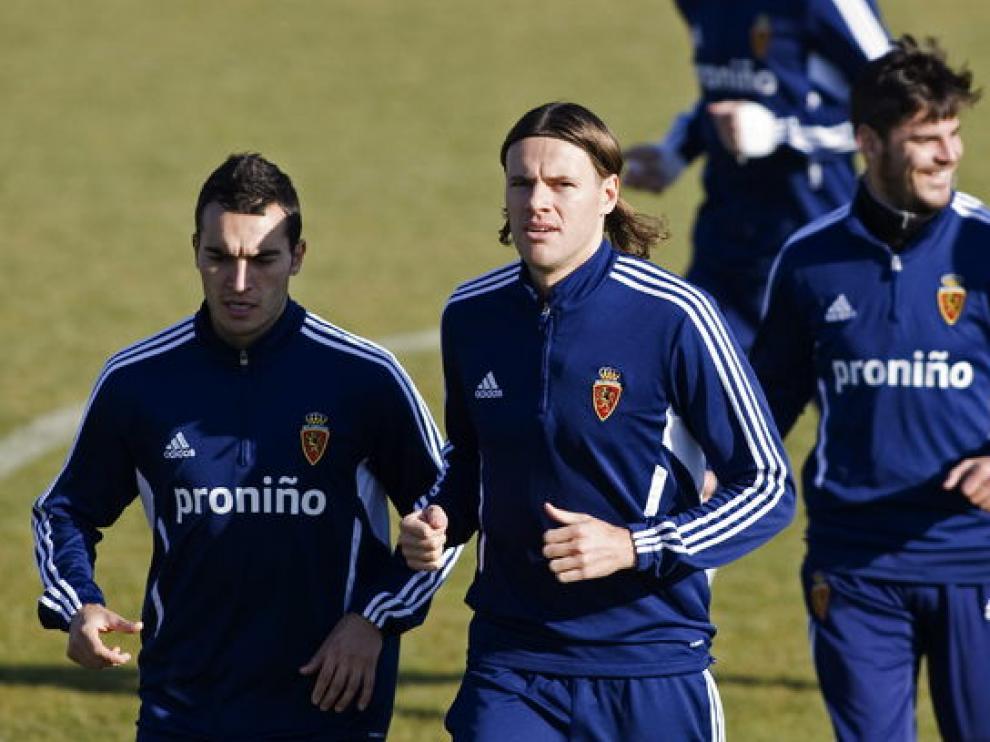 Dujmovic entrenó con sus nuevos compañeros