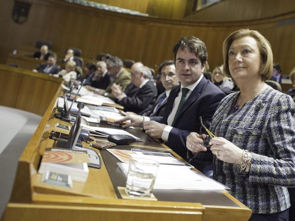 La presidenta del Gobierno aragonés, Luisa Fernanda Rudi