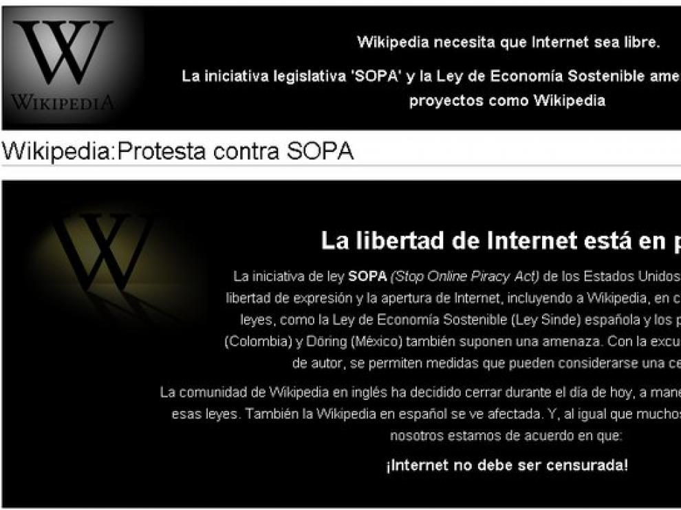 Mensaje de Wikipedia