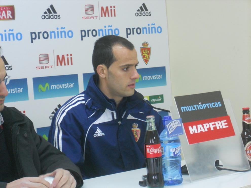 Rúben Micael, durante la rueda de prensa