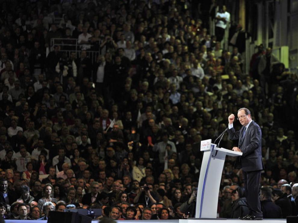 El candidato a la presidencia de Francia, Francoise Hollande