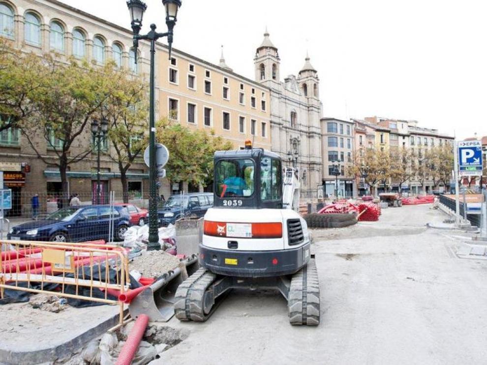 La sede del Prendimiento, rodeada de obras