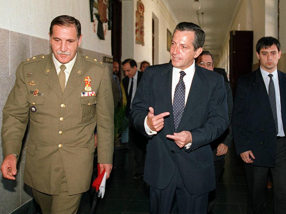 Foto de archivo de Adolfo Suárez en la Academia General Militar de Zaragoza