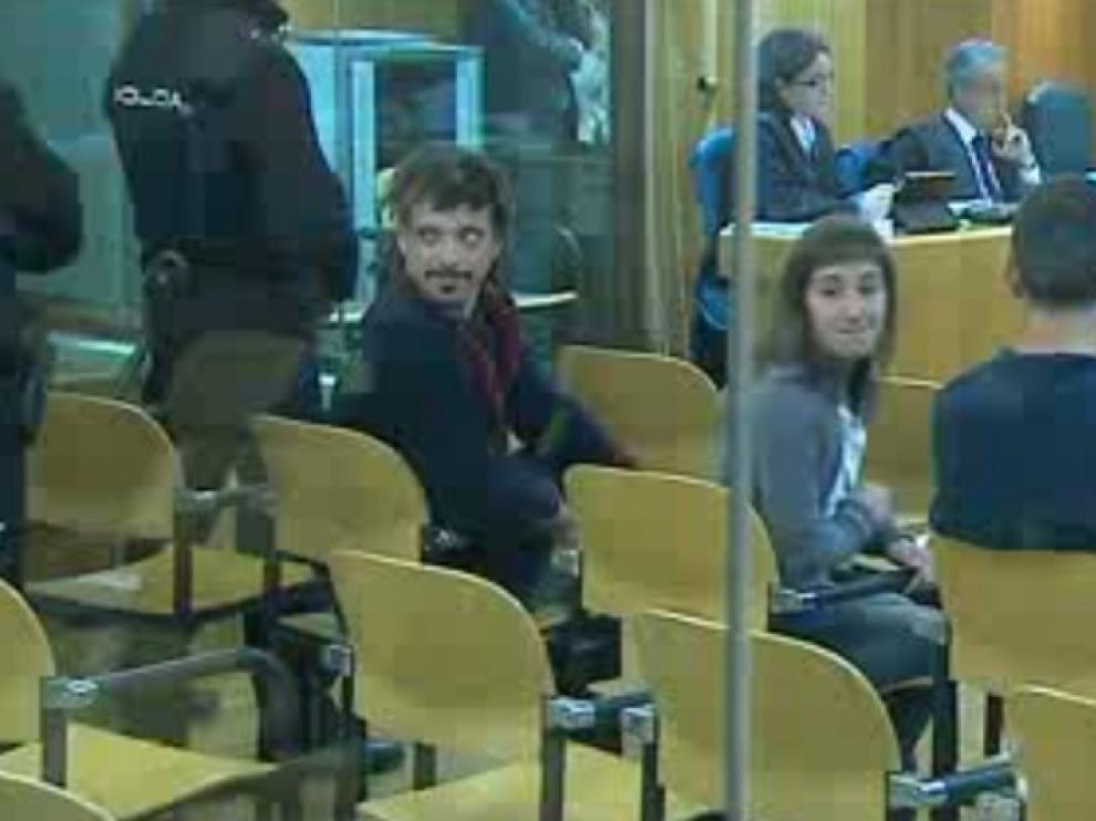 Los etarras del comando Otazúa durante el juicio celebrado este lunes