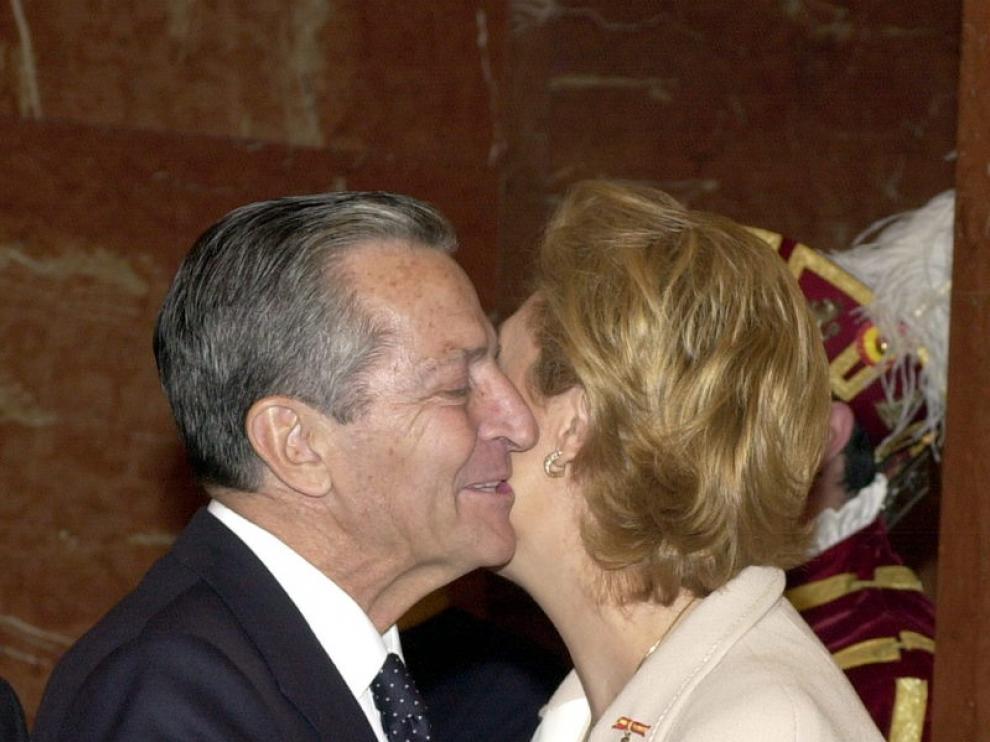 Adolfo Suárez junto a Luisa Fernanda Rudi, en una foto de archivo