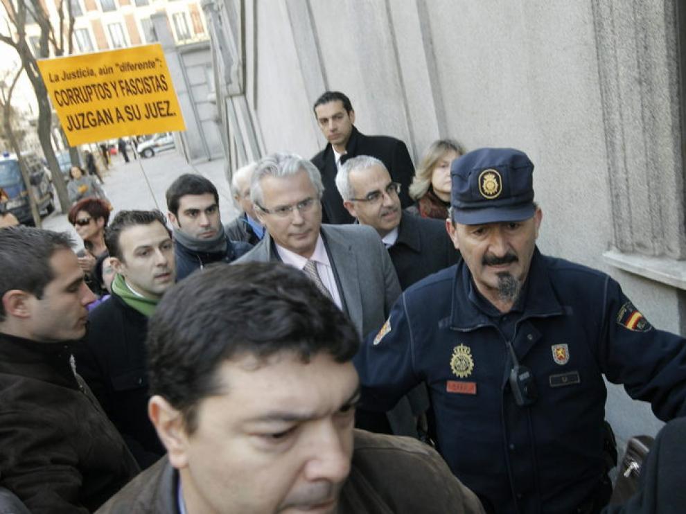 Garzón, a su llegada al Supremo