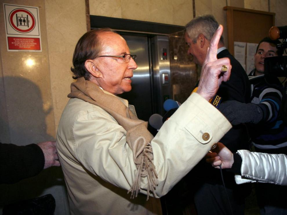 El empresario José María Ruiz-Mateos a su llegada a los juzgados
