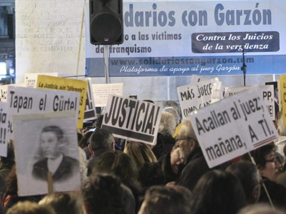 Manifestación en apoyo a Garzón