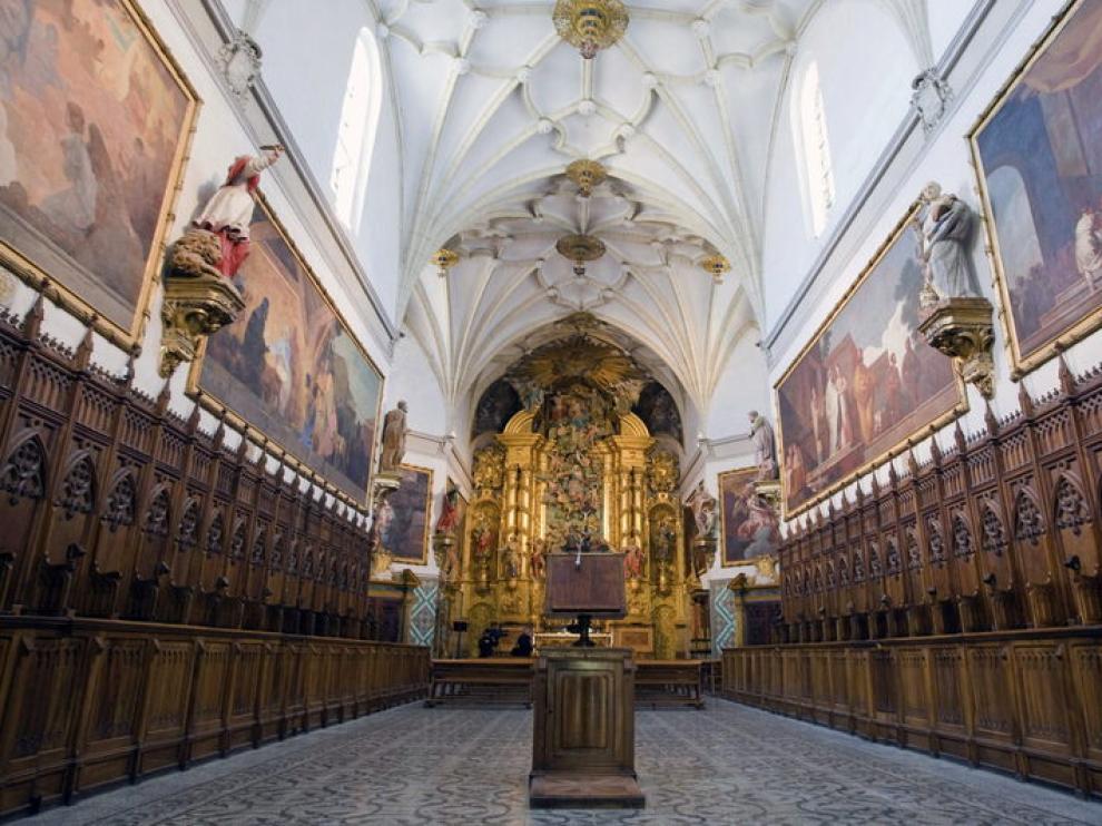 Iglesia de la Cartuja de Aula Dei, donde se encuentran los siete murales de Goya