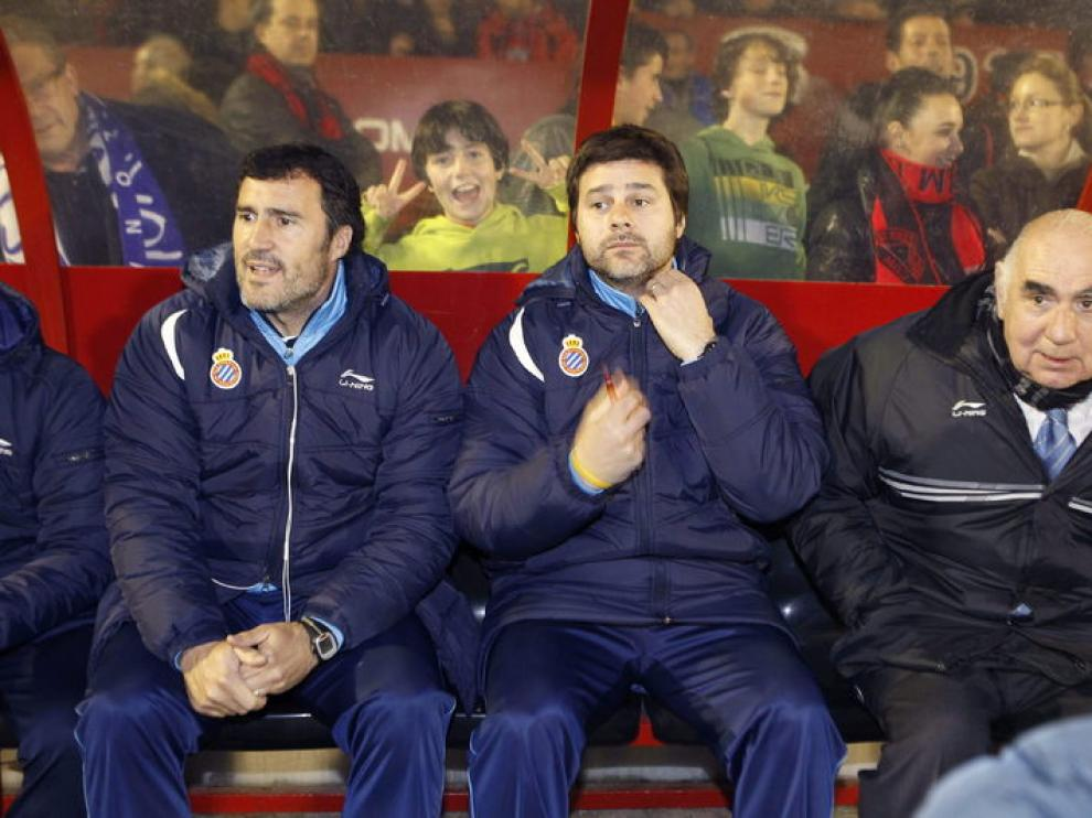 El entrenador del RCD Espanyol, Mauricio Pochettino