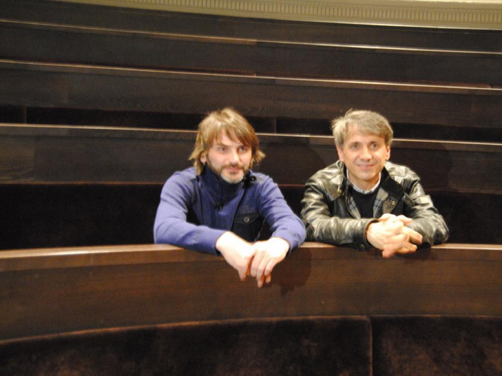 Fernando Tejero y José Mota, en el Aula Magna del Paraninfo
